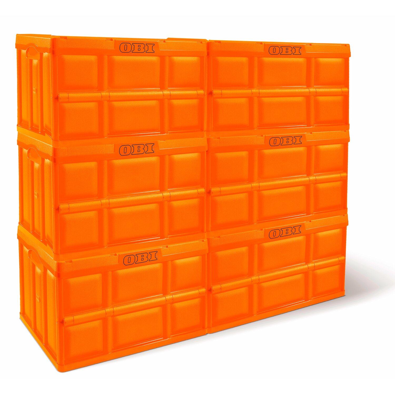 Obi Klappbox Orange 46 L Kaufen Bei Obi