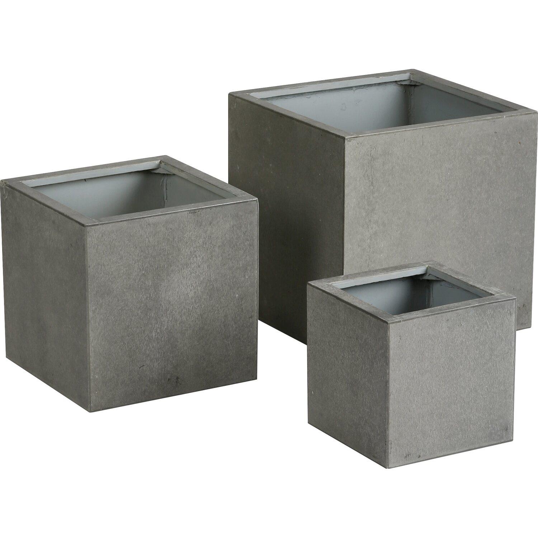 pflanzbehälter rockall 25 cm x 25 cm beton-glasfaser kaufen bei obi