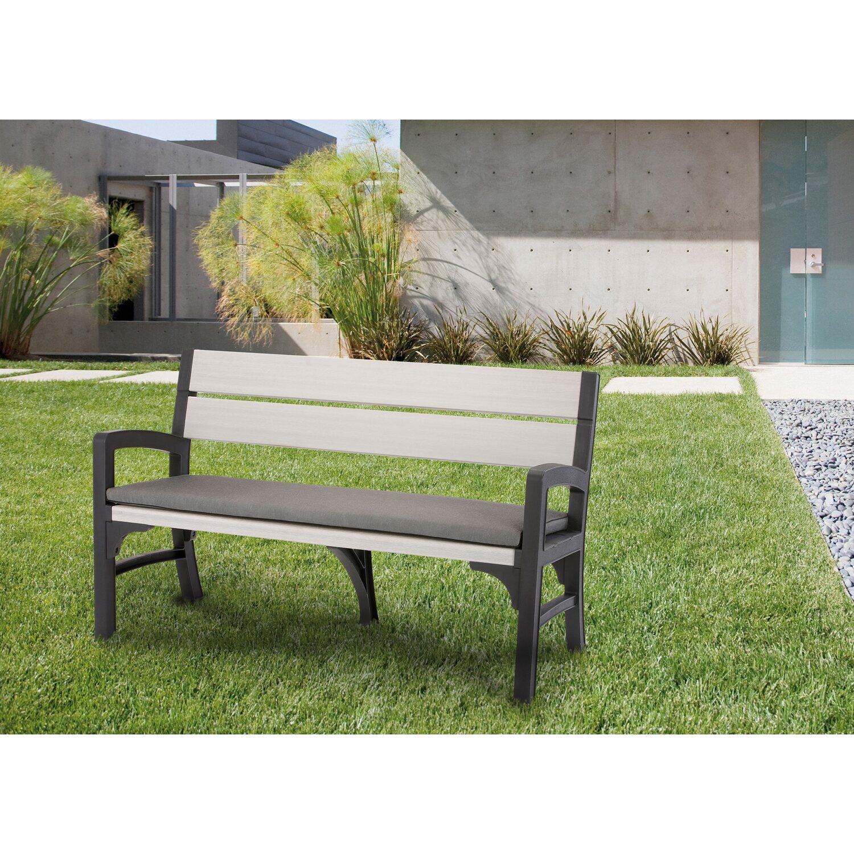 bank schlo garten 2 sitzer graphit grau kaufen bei obi. Black Bedroom Furniture Sets. Home Design Ideas