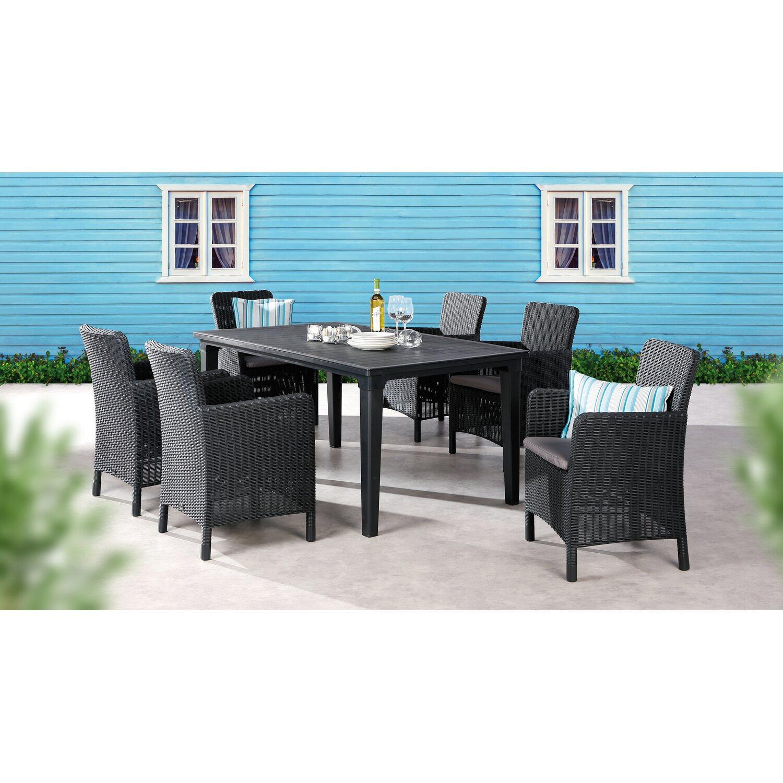 tisch vulcano 160 cm x 90 cm graphit kaufen bei obi. Black Bedroom Furniture Sets. Home Design Ideas