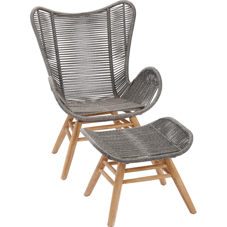 Relax Lounge Sessel Asmara Grandis Grau Mit Hocker Kaufen Bei Obi