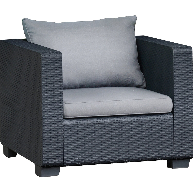 Lounge gruppe burano 4 tlg graphit hellgrau kaufen bei obi for Gartenmobel lounge gruppe