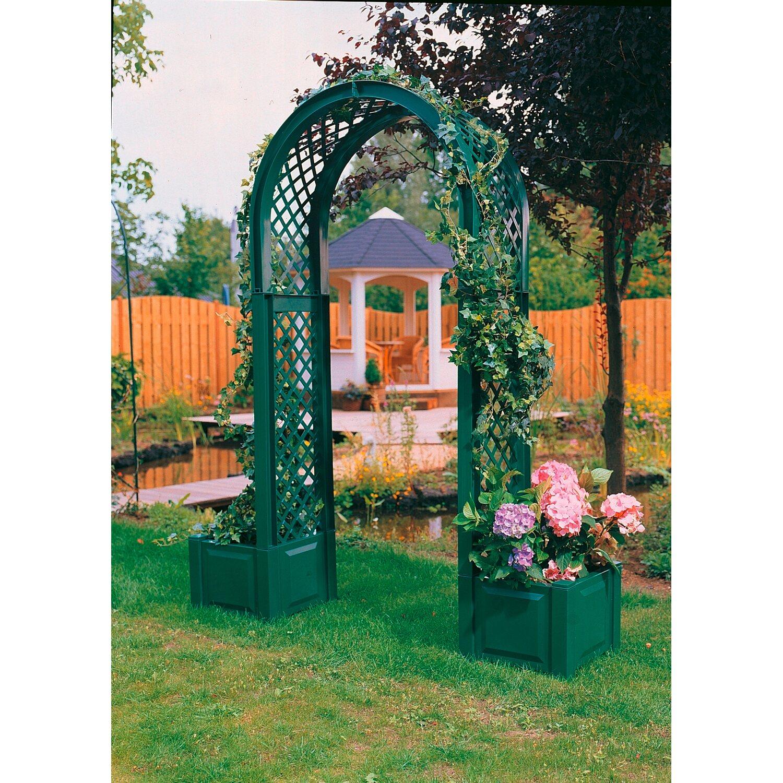 khw rosenbogen mit pflanzkasten gr n kaufen bei obi. Black Bedroom Furniture Sets. Home Design Ideas