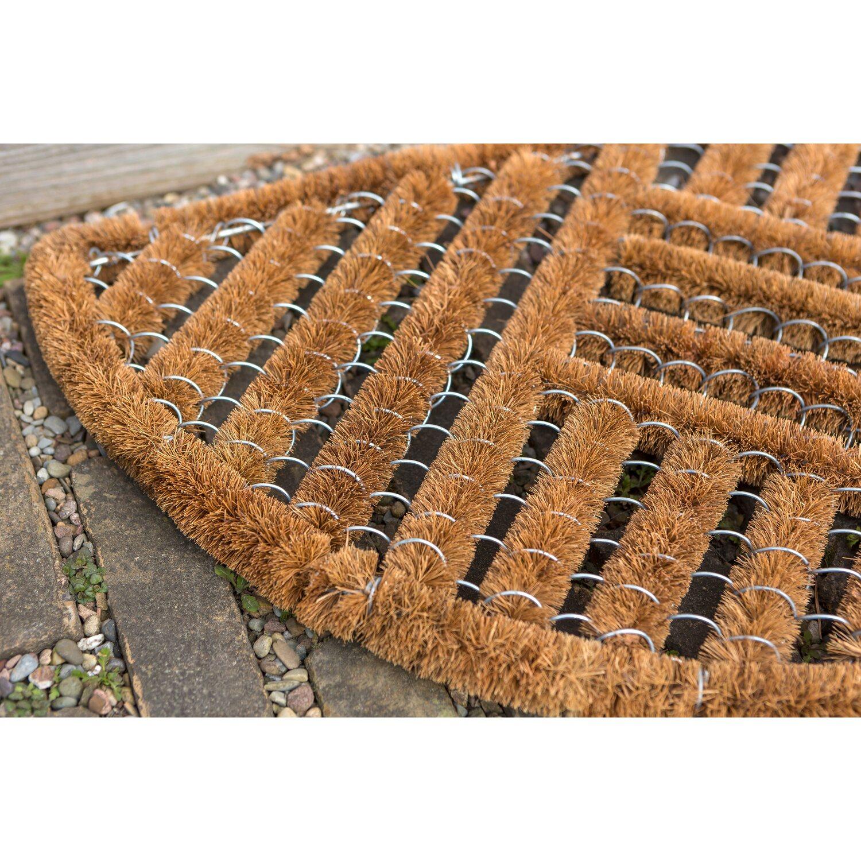 Fußmatten Für Draußen astra fußmatte coco brush halbrund 40 cm x 60 cm kaufen bei obi