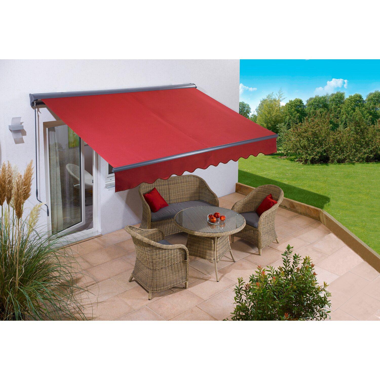 obi h lsenmarkise bedford 300 cm x 200 cm berryrot kaufen. Black Bedroom Furniture Sets. Home Design Ideas