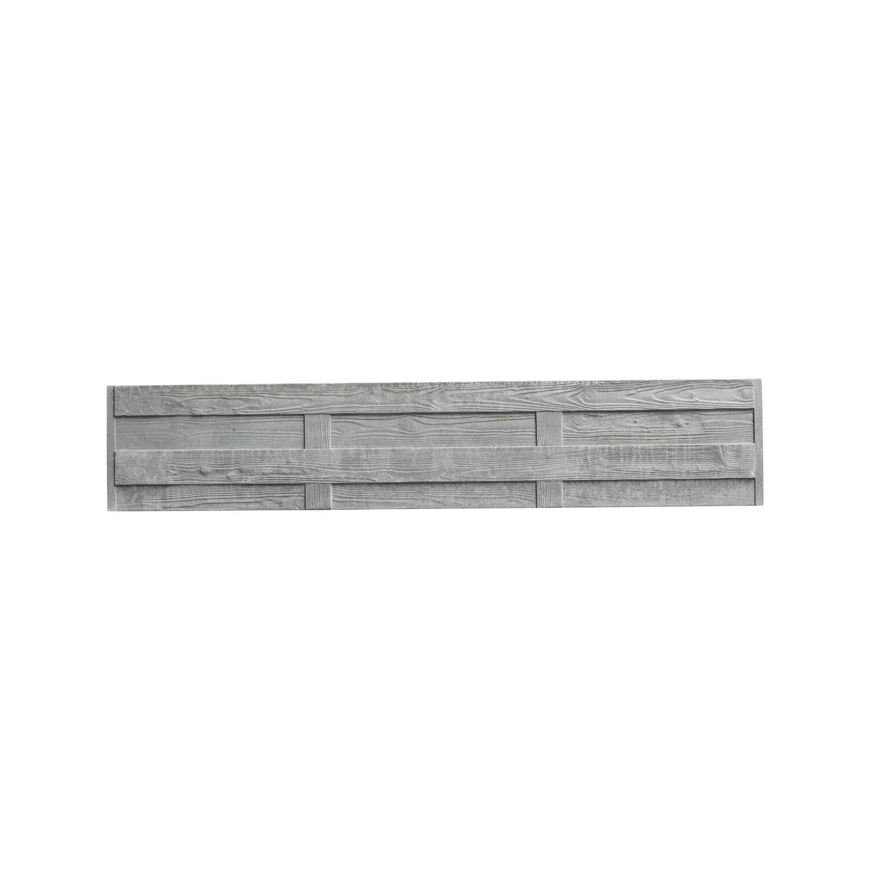 Beckers Betonzaun Betonzaun-Platte Elegant 200 cm x 38,5 cm x 3 cm