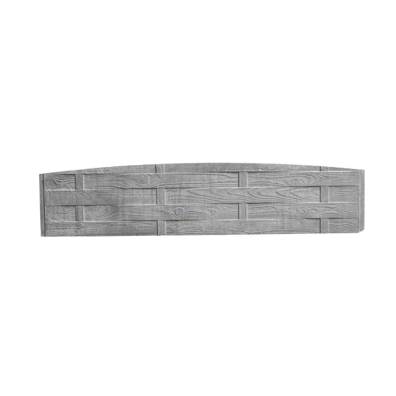 Beckers Betonzaun Betonzaun-Bogenplatte Flecht 200 cm x 45 cm x 3 cm