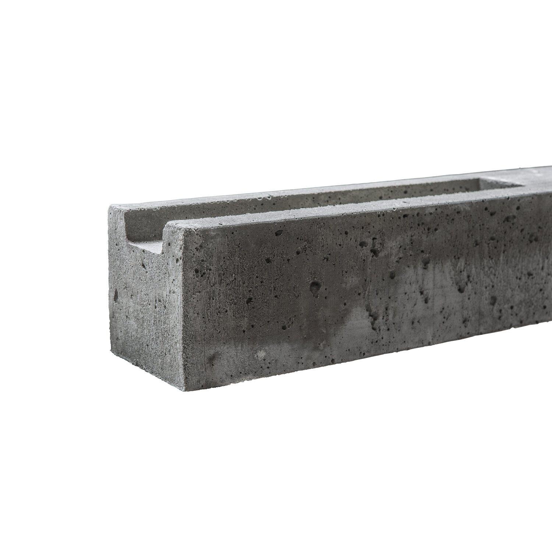 Beckers Betonzaun Betonzaun-Anfangspfosten doppelseitig 130 cm