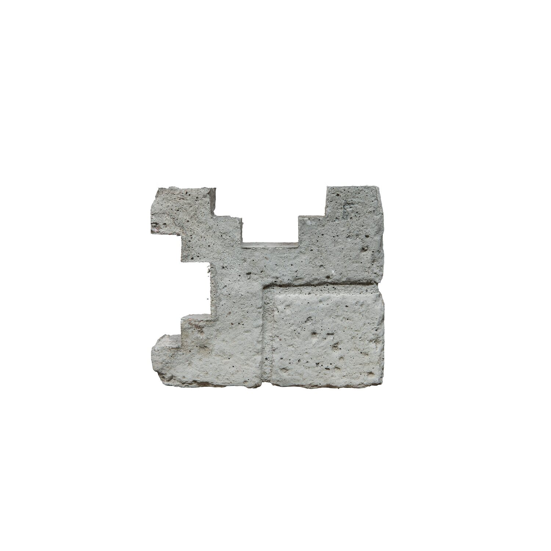Beckers Betonzaun Betonzaun-Eckpfostenkappe Klassik-Stein 20 cm x 6,5 cm x 18 cm