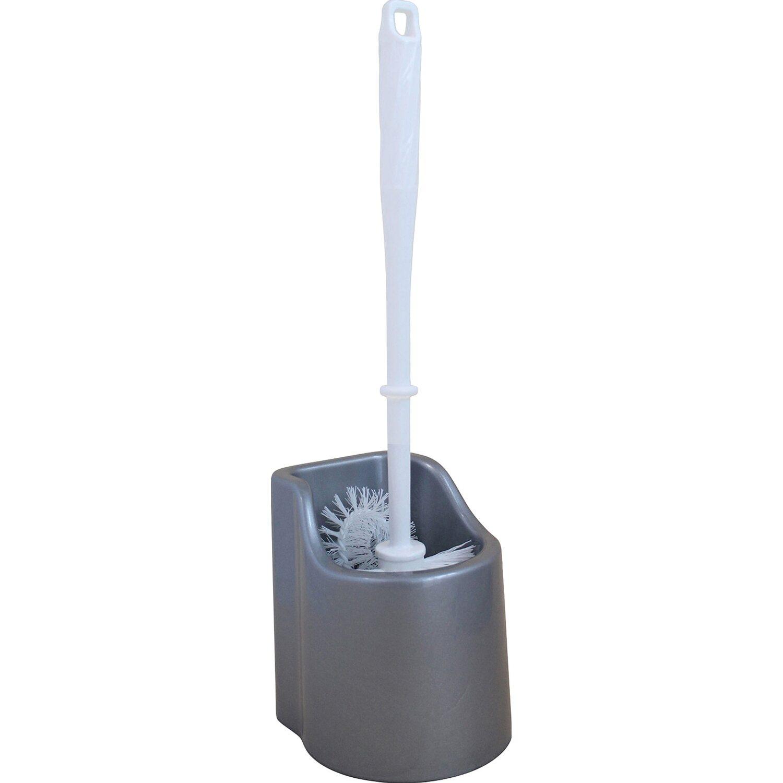 WC-Garnitur mit Randreiniger Silber
