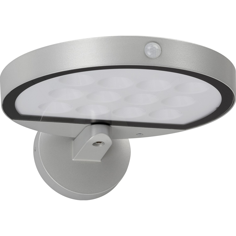 telefunken solar au enleuchte mit bewegungsmelder 600 lm silber eek a kaufen bei obi. Black Bedroom Furniture Sets. Home Design Ideas