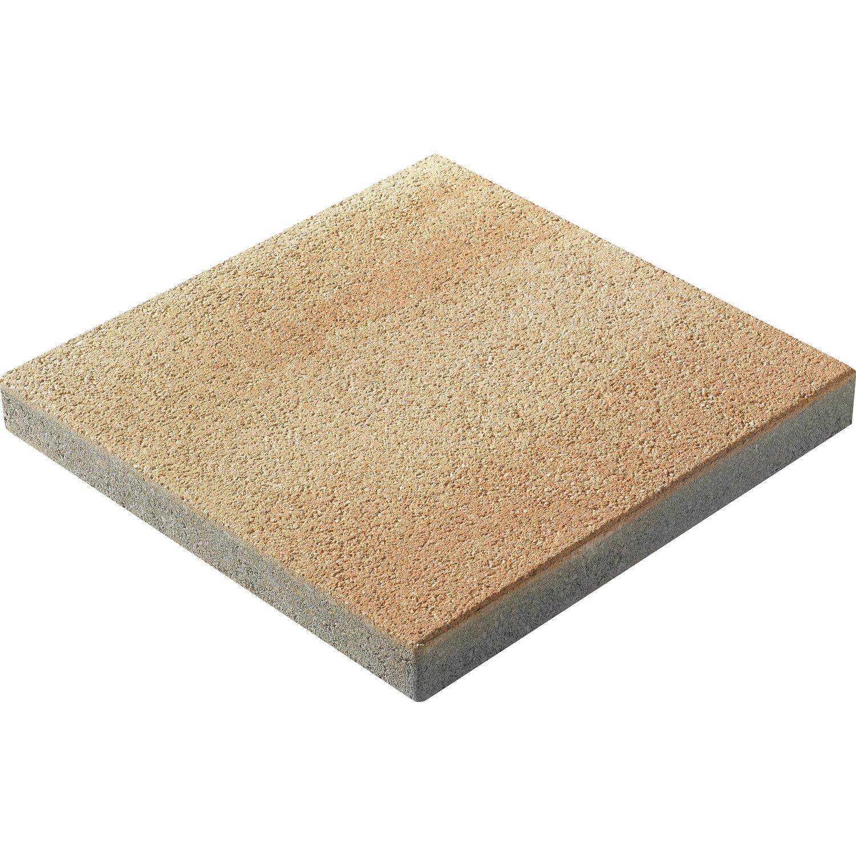 Gartenplatte Lyon Sandstein 40 cm x 40 cm x 4,5 cm kugelgestrahlt