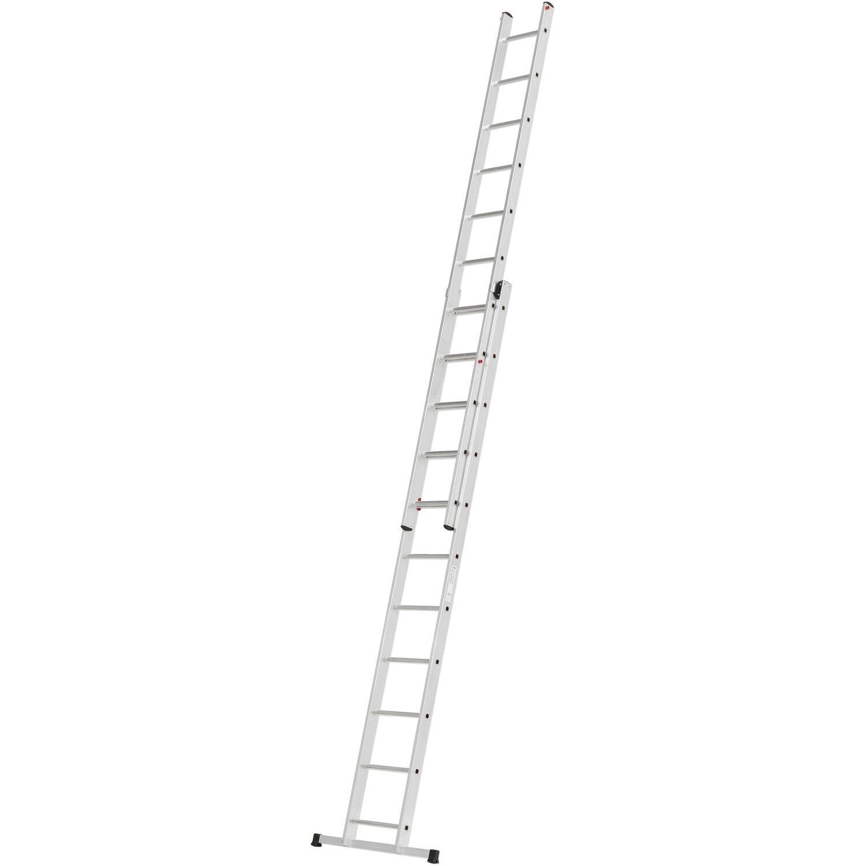 Alpe Schiebe-Leiter 2 x 11 Sprossen Arbeitshöhe 5,46 m | Baumarkt > Leitern und Treppen > Schiebeleiter | Alpe