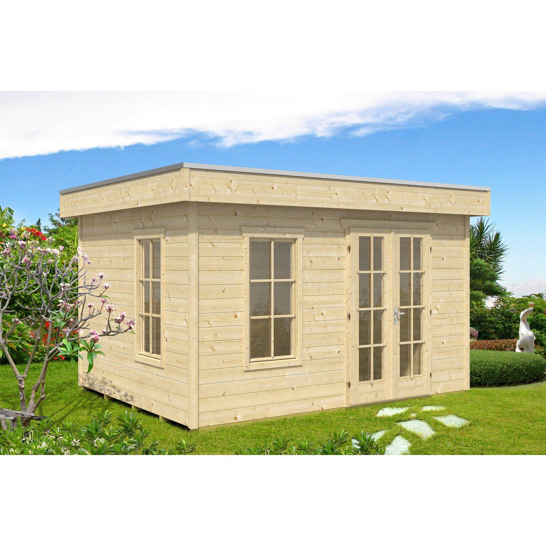 Holz-Gartenhaus Breda Natur B x T: 380 cm x 380 cm Preisvergleich