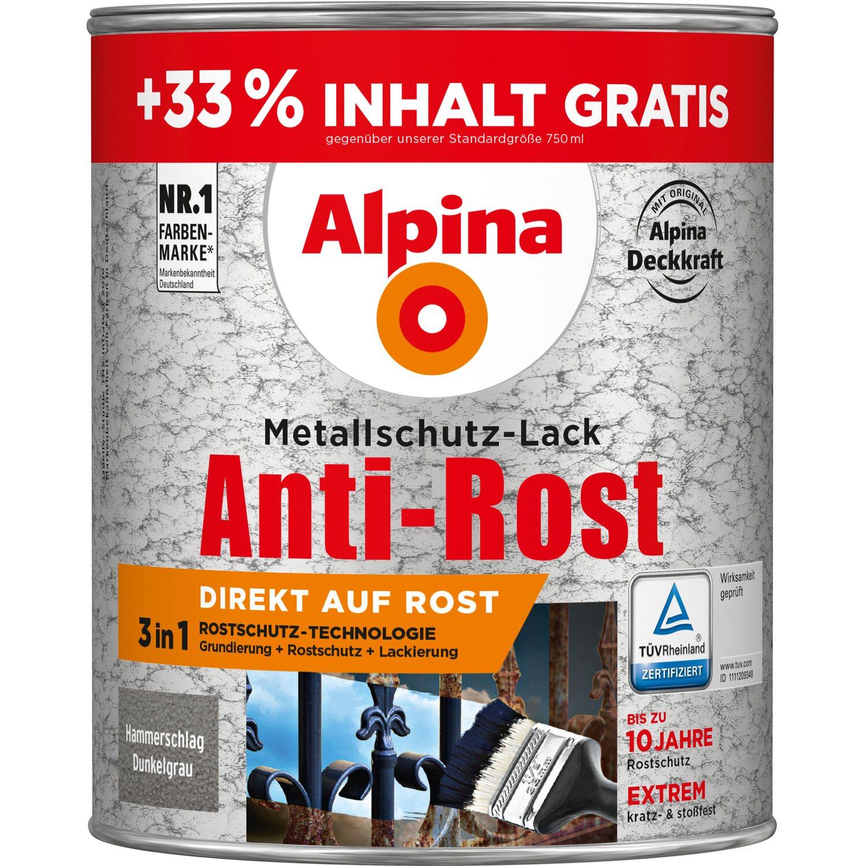 alpina metallschutz lack anti rost dunkelgrau hammerschlag 1 l kaufen bei obi. Black Bedroom Furniture Sets. Home Design Ideas