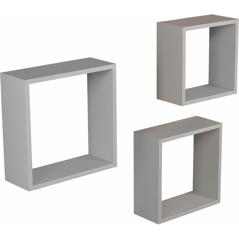 obi kubus set triple cube grau 3 teilig kaufen bei obi. Black Bedroom Furniture Sets. Home Design Ideas