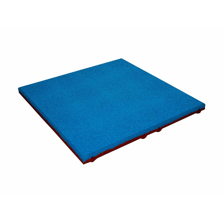 Sonstige Fallschutzplatte/ElastikmatteBlau 50 cm x 50 cm x 3 cm