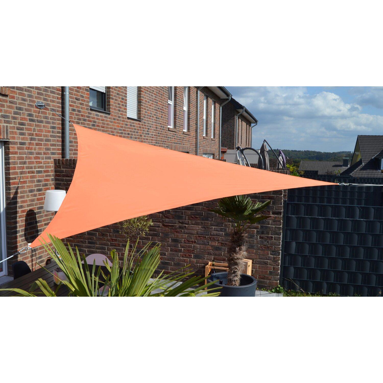 Floracord Dreiecksonnensegel Terrakotta 460 cm x 460 cm x 460 cm | Garten > Sonnenschirme und Markisen > Sonnensegel | Floracord