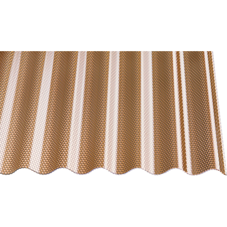 Gutta Acryl-Profilplatte Sinus 76/18 Wabe Bronze 200 cm x 104,5 cm