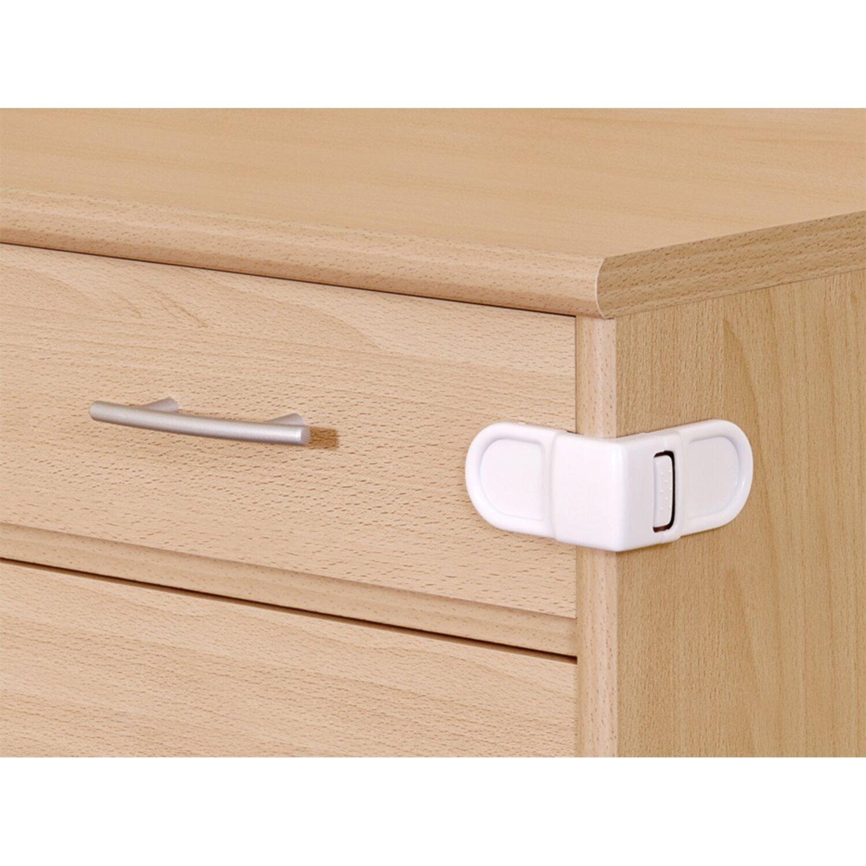 Schrank- und Schubladensicherung zum Kleben Weiß | Wohnzimmer > Schränke > Weitere Schränke | Weiß | Reer
