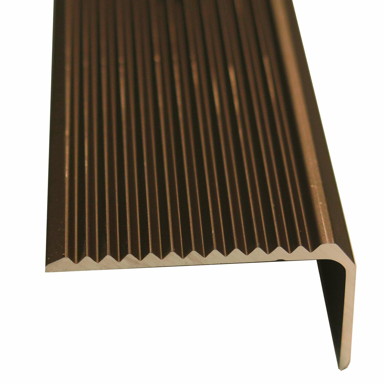 treppenwinkelprofil gelocht 25 mm x 20 mm bronze 2500 mm. Black Bedroom Furniture Sets. Home Design Ideas