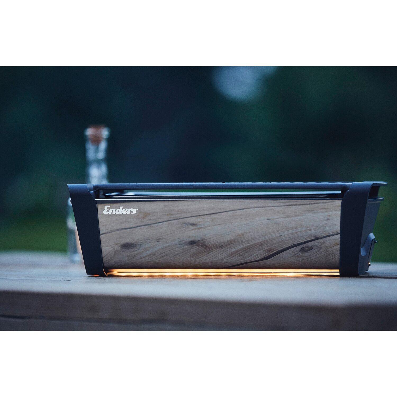enders holzkohle-tischgrill aurora mirror copper raucharm mit led