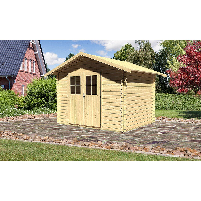 Karibu Holz-Gartenhaus/Gerätehaus Tylätt 5 Natur  BxT: 280 cm x 220 cm | Garten > Gartenhäuser | Fichte | Karibu