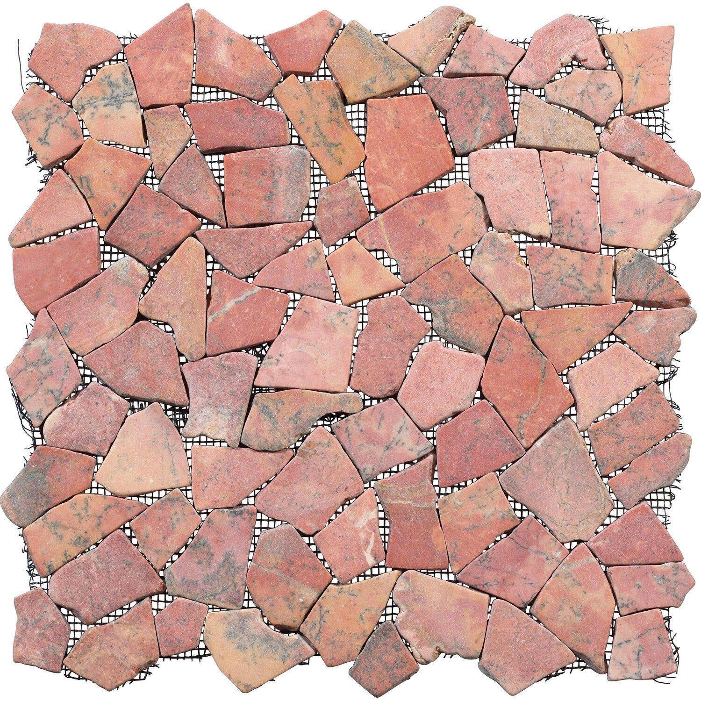 Bruchmosaikmatte Rot 30,5 cm x 30,5 cm