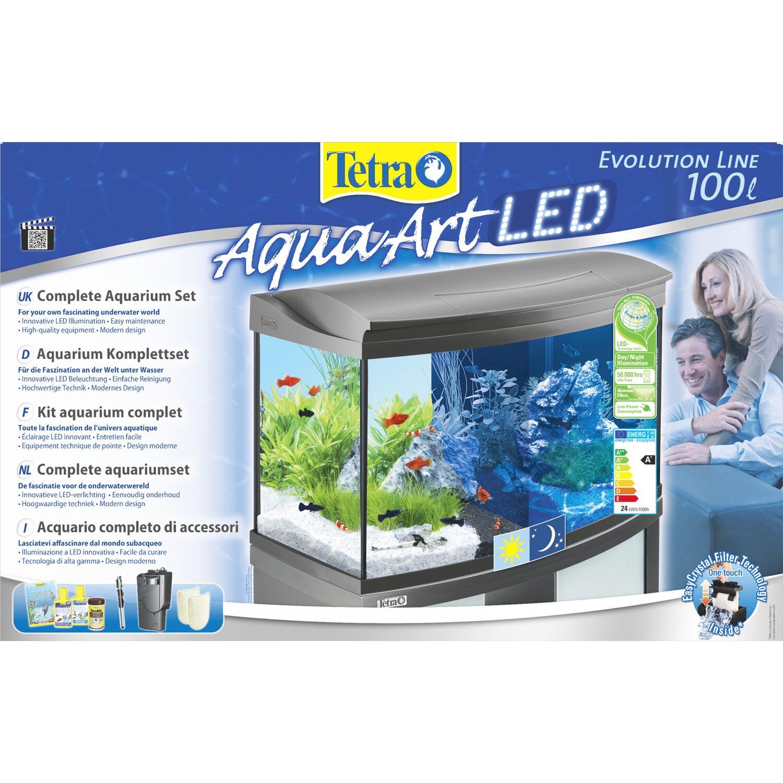 Tetra Aquarium-Set AquaArt II Evolution Line LED 100 l Anthrazit ...