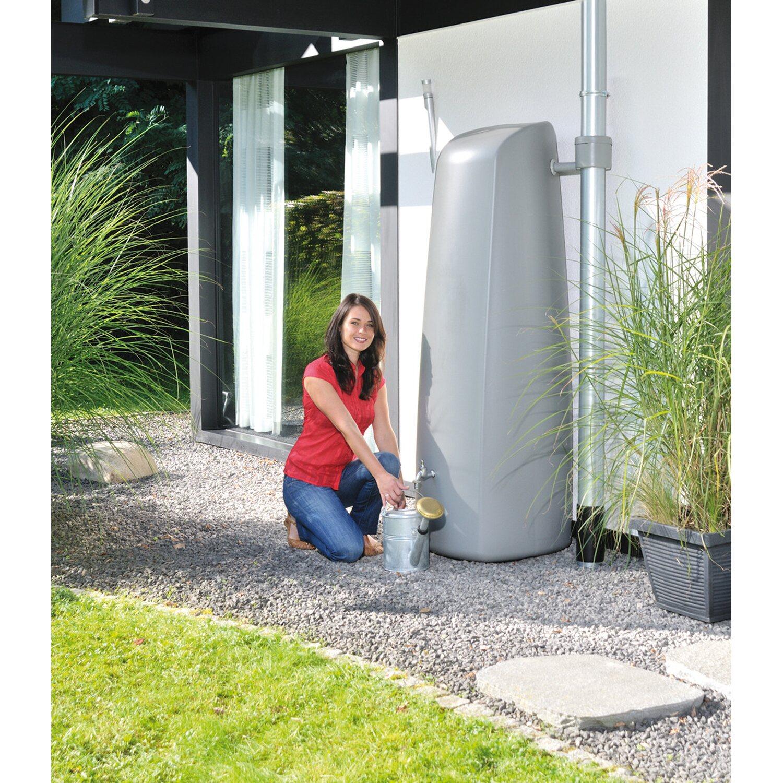 garantia regenwasser-wandtank elegance 400 l steingrau kaufen bei obi