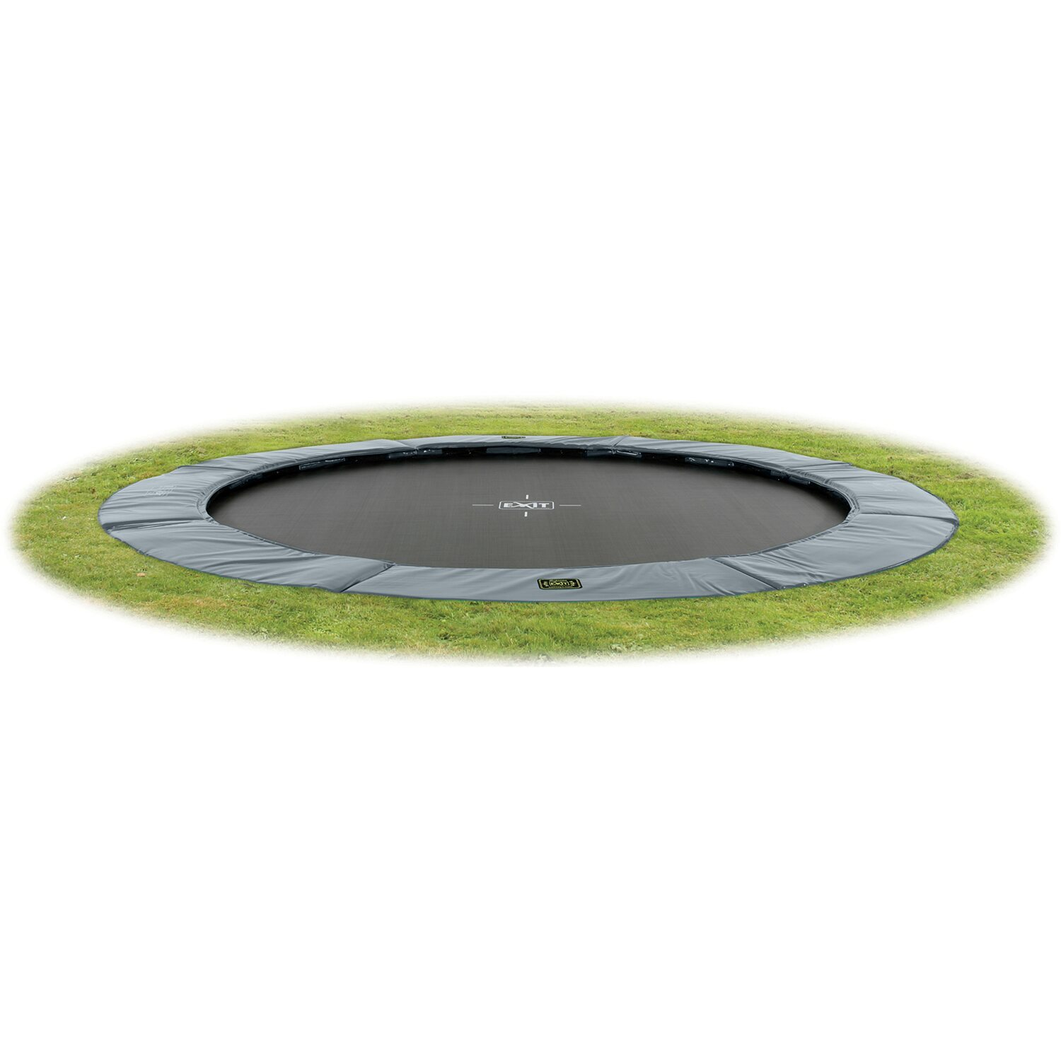 Exit Bodentrampolin Supreme Ground Level 305 Cm Grau