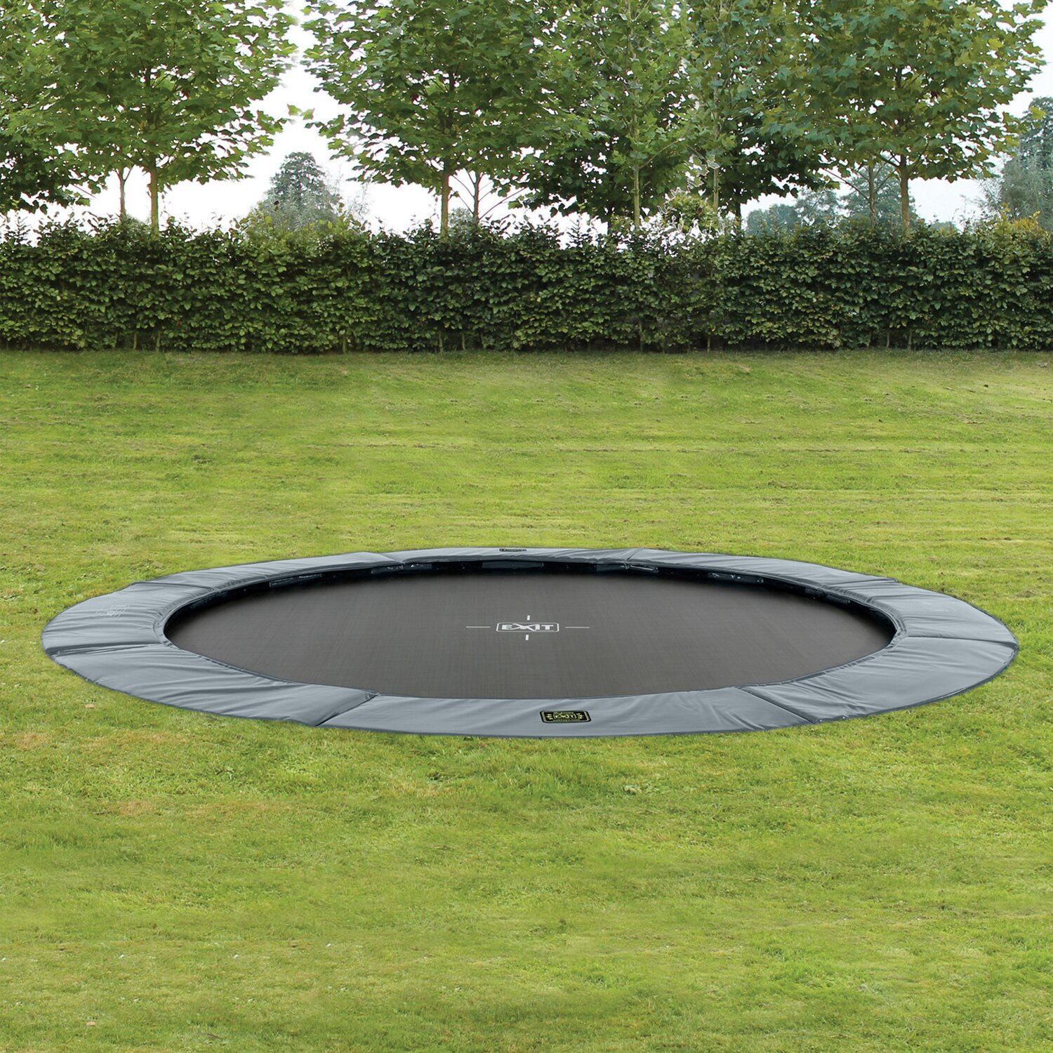 Exit Bodentrampolin Supreme Ground Level O 366 Cm Grau Kaufen Bei Obi