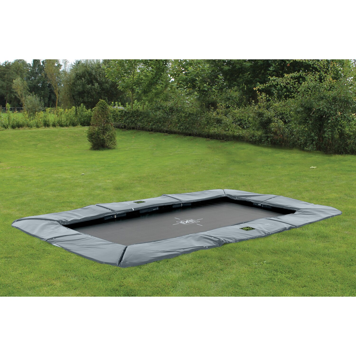 Exit Bodentrampolin Supreme Ground Level 244 Cm X 427 Cm Grau Kaufen