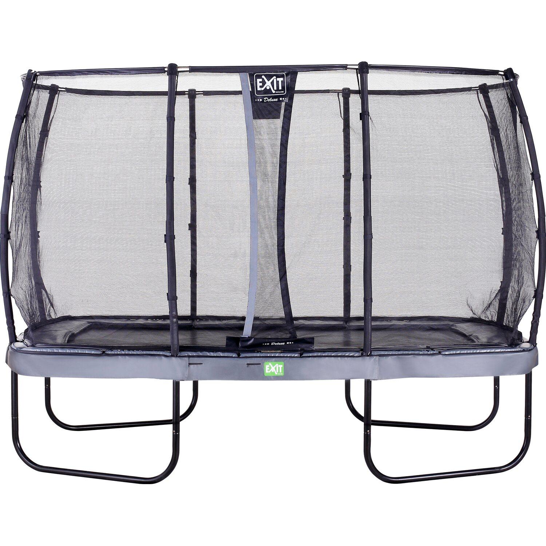 exit trampolin elegant eckig 244 x 427 cm mit sicherheitsnetz deluxe grau kaufen bei obi. Black Bedroom Furniture Sets. Home Design Ideas