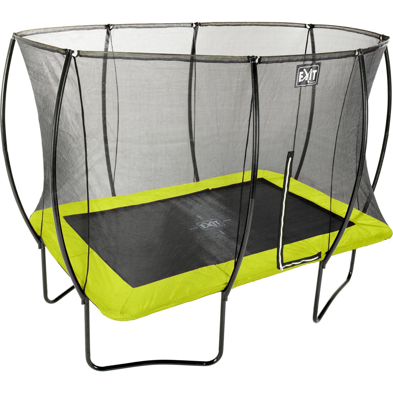 exit trampolin silhouette eckig 214 cm x 305 cm mit sicherheitsnetz lime gr n kaufen bei obi. Black Bedroom Furniture Sets. Home Design Ideas