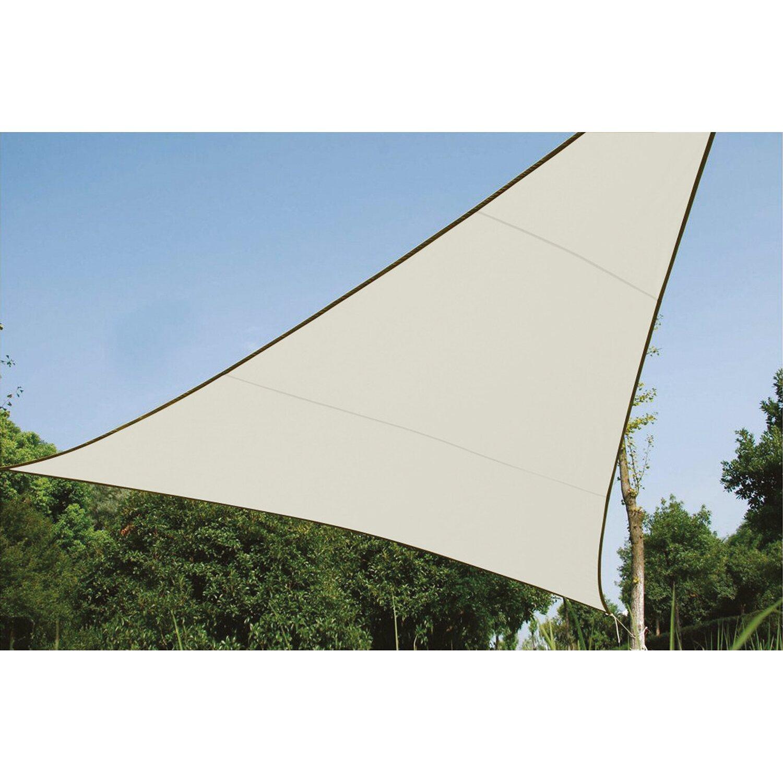 Perel Dreieck-Sonnensegel 360 cm x 360 cm Creme