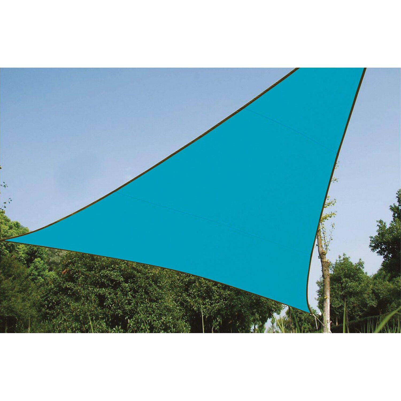 Perel Dreieck-Sonnensegel 360 cm x 360 cm Blau