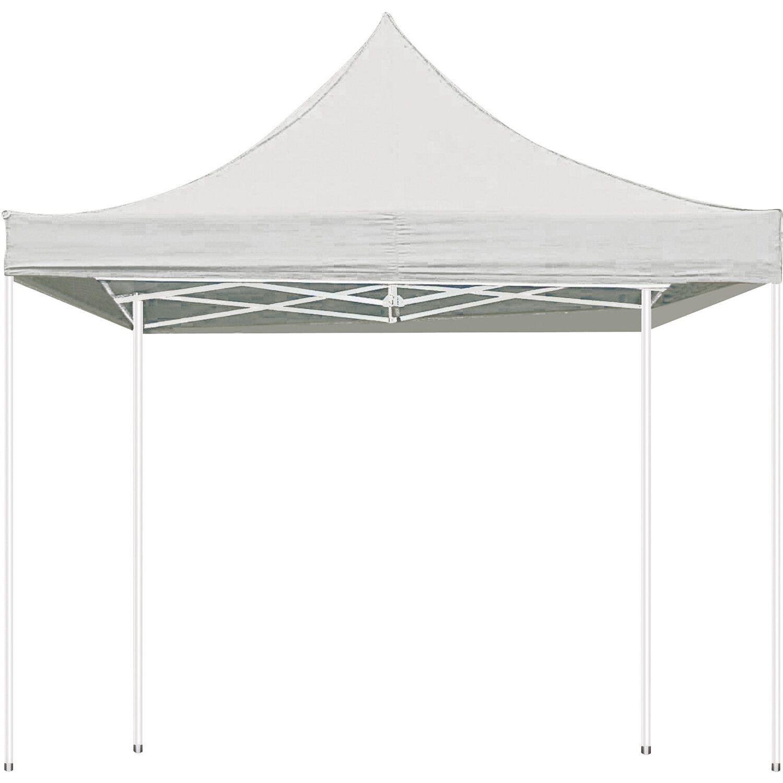 perel profi gartenpavillon 300 cm x 300 cm wei kaufen bei obi. Black Bedroom Furniture Sets. Home Design Ideas