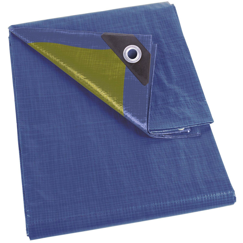 Perel abdeckplane blau khaki 200 cm x 200 cm kaufen bei obi for Abdeckplane obi