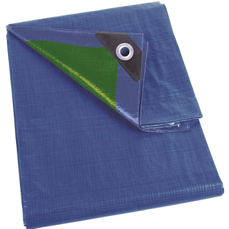 Perel Abdeckplane Blau Grün 500 Cm X 500 Cm