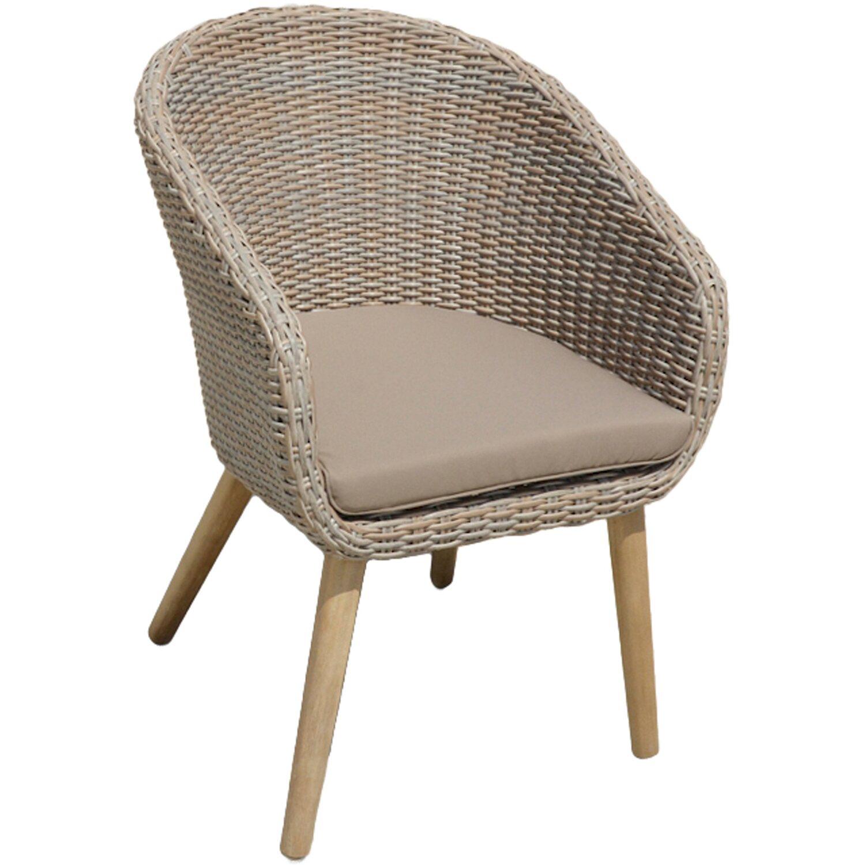 Garden Pleasure Stuhl Visalia mit Auflage Taupe kaufen bei OBI