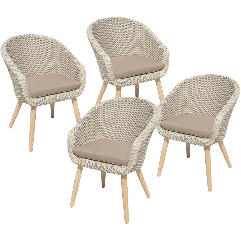 Garden Pleasure Stuhl Arvada Mit Auflage Weiß Kaufen Bei Obi