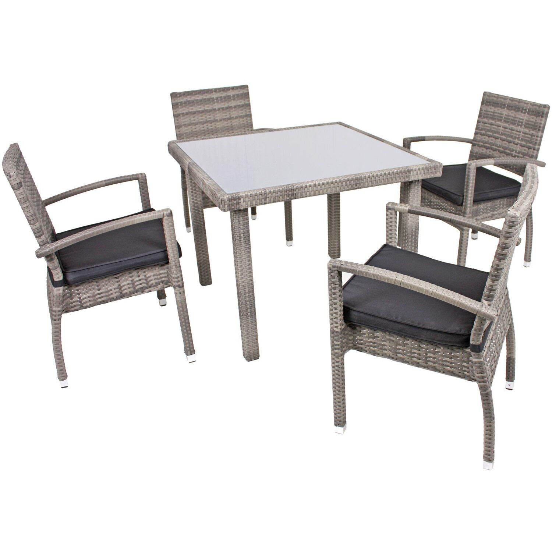 grau-rattan-polyrattan- Gartenmöbel-Set online kaufen | Möbel ...