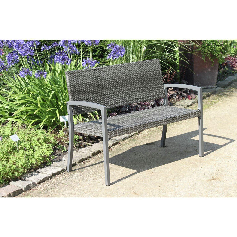 garden pleasure parkbank sanremo dunkelgrau 2 sitzer kaufen bei obi. Black Bedroom Furniture Sets. Home Design Ideas