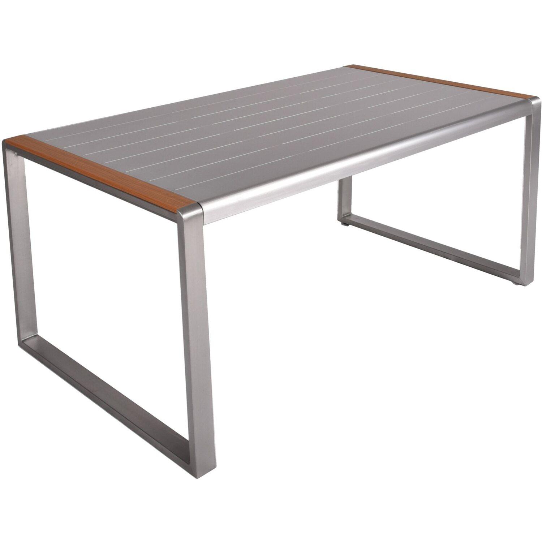 Garden Pleasure Tischgruppe Ava 5-tlg. Grau Preisvergleich