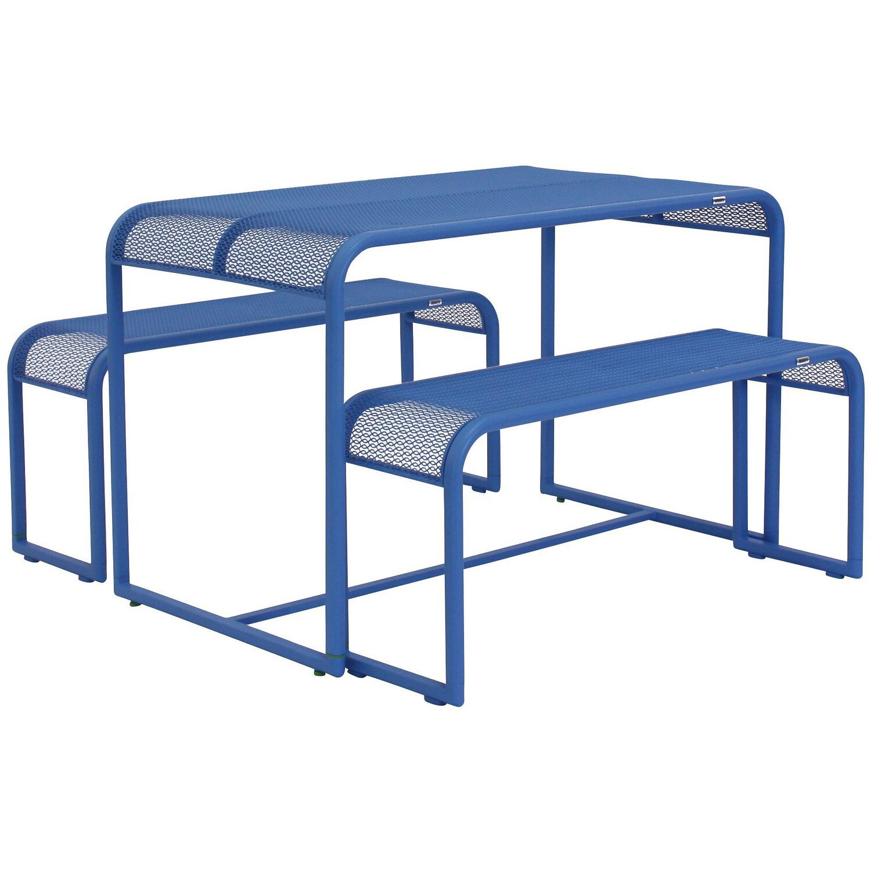 MWH Balkontischgruppe Benco 2-tlg. Blau kaufen bei OBI