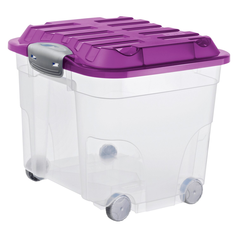 Neu Rotho Roll-Clipbox Roller 4 Transparent-Violett 30 l kaufen bei OBI YL12