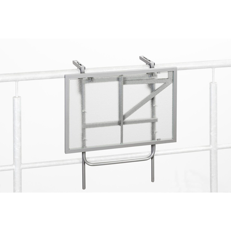 Balkonhängetisch obi  Balkonhängetisch 60 cm x 40 cm Silber kaufen bei OBI