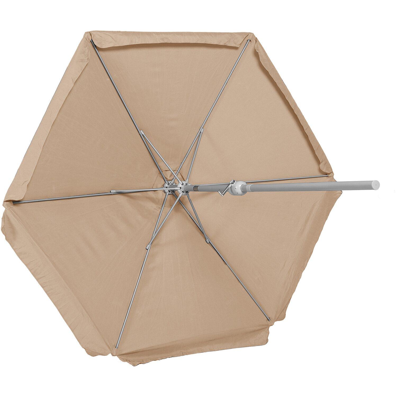 sonnenschirm beige 230 cm kaufen bei obi. Black Bedroom Furniture Sets. Home Design Ideas