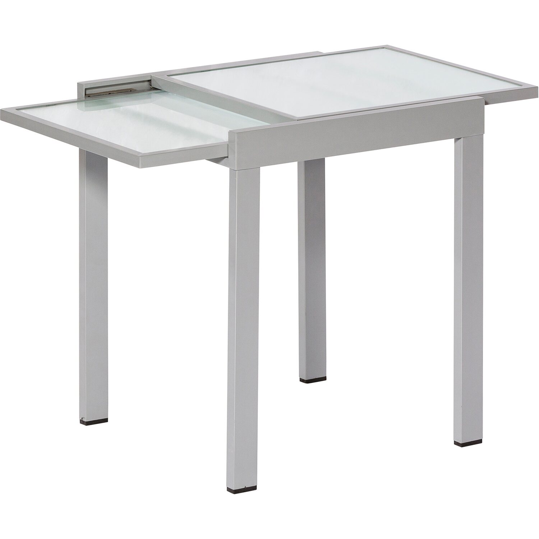 Balkon Tisch   Balkontisch 65 130 Cm X 65 Cm Ausziehbar Silber Matt Kaufen Bei Obi